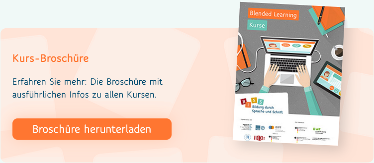 Blended-Learning Kursbroschüre
